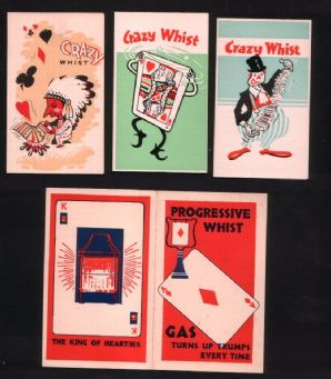 Vintage Playing card whist score cards Gas advertising #019